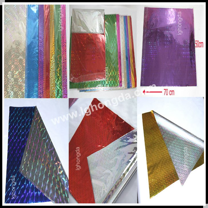 glossy vivid colors wrapping holographic film
