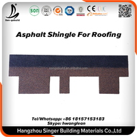 Building Material Low price colorful fiberglass bitumen asphalt shingle roofing sheet