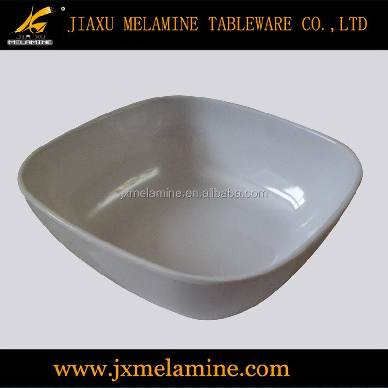 household items melamine 6 inch white square bowl