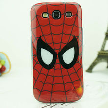 cool hero painting case PC hard cartoon Spiderman case back cover for samsung galaxy s3 spider web case