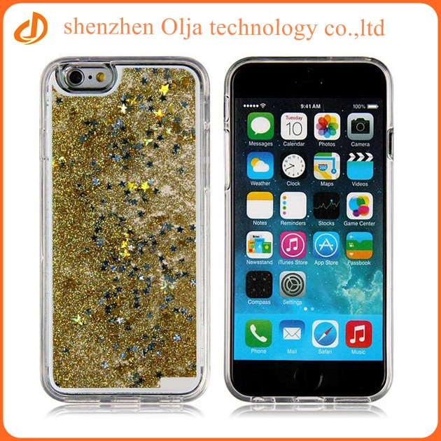 3D liquid glitter soft tpu case for iphone 6