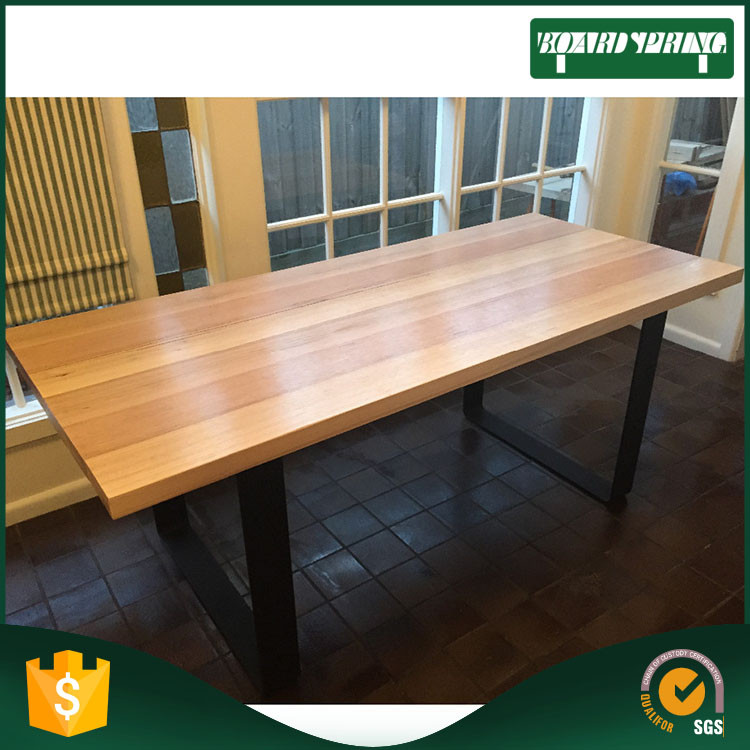 best sell prefabricated wood top kitchen islands , timber table tops made in china
