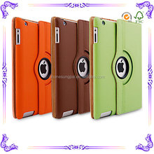 360 degree rotate Auto sleep function For ipad case leather for ipad2 case