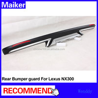 ABS Rear bumper guard for Toyota Lexus NX300 car bumper tunning accessories from Maiker