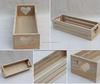 hot selling Factory cheaper home decoration heart shape handle wooden storage crates