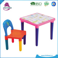 colorful school plastic kids table and chair set for kids pl-338