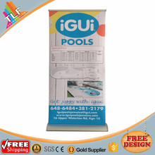Custom pop up banner display, indoor advertising rollup banner for sale