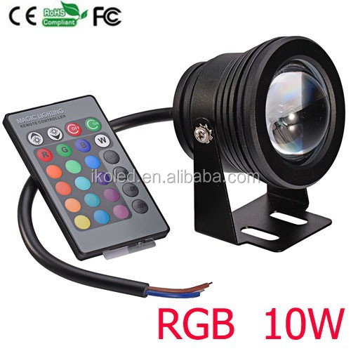 10w super bright led underwater lights IP68 RGB pool light 12V DC led outdoor flood light