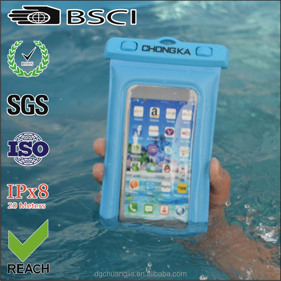 cheap waterproof case for iphone 5 with IPX8 certificate for surfing/boating/swimming/diving