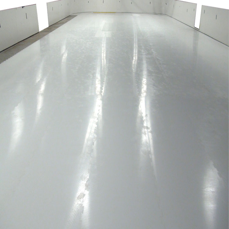 white glide interconnecting floor board synthetic ice tiles