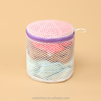 women underwear bra zipper laundry bag Custom Mesh Dirty washing bag