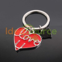 Alloy Aluminum Heart-shaped Love Keychains Wholesale For Promotional Gifts