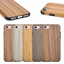 Natural Wooden+TPU mobile phone case for iPhone 7, for iPhone 7 wooden case