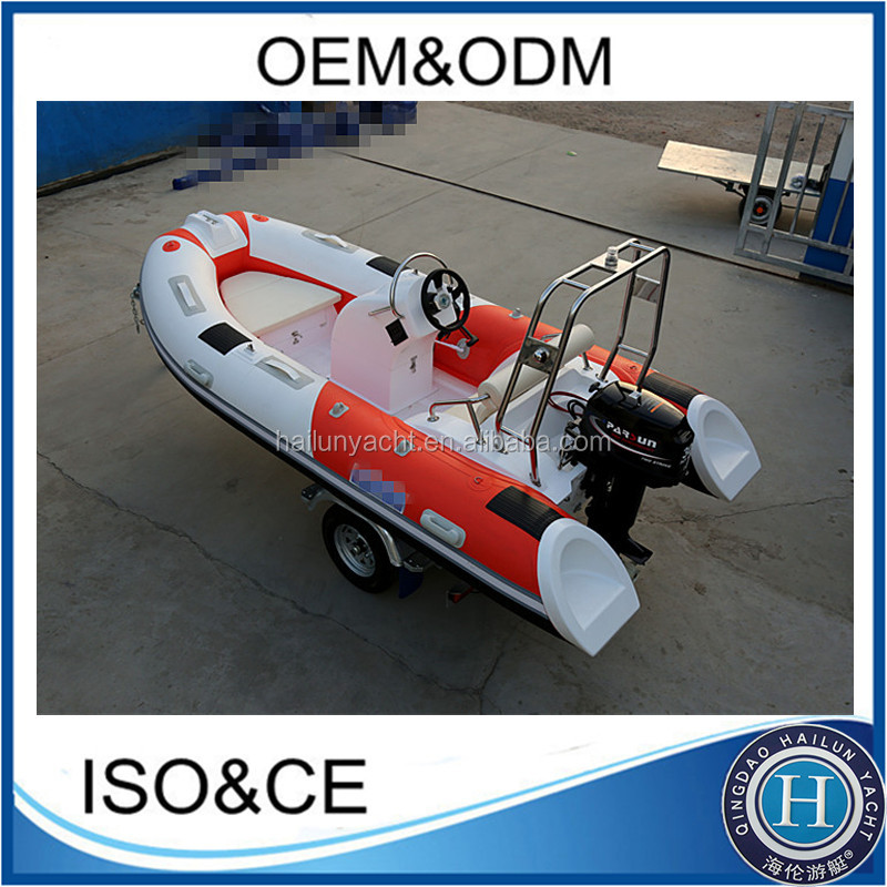 390cm popular fiberglass catamaran fishing boat with engine for sale