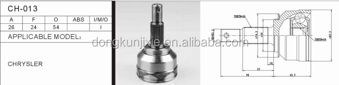 Auto outer cvjoint CH-013for car