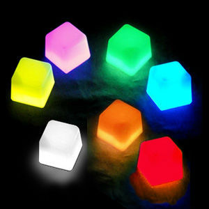 Assorted Colors Glow ice cube , glow in the darkice cube