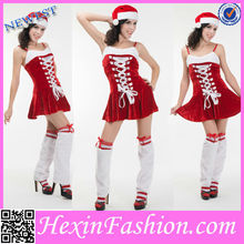 Hexin Wholesale Fashion Strapped Candy Cane Christmas Costume