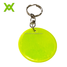 Manufactuer Soft Reflector Reflective Key Chain Acrylic Reflective LED Cheap Blank Acrylic Key Chain For Visibility Safety Use