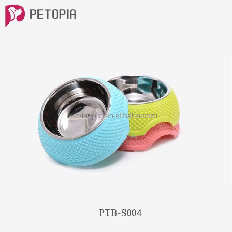 Wholesale Pet Cat Dog Food Bowls Stainless Steel Feeder Bowl