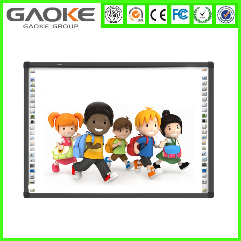 China smart movable whiteboard with mobile stand touch screen green board for kids