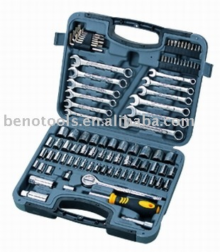 OEM FACTORY ZHEJIANG CHINA BENO-100pcs hand tools mechanic & car repairing tool kit CRV +CARBON STEEL screwdrivers wrench tools