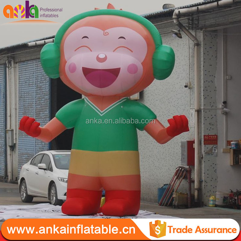 2017 Newest design advertising giant inflatable monkey model with high quality