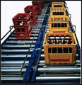 single sprocket roller conveyor, double sprocket roller conveyor,products conveying power rolling conveyor line