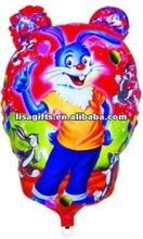 2012 hotting selling rabbit shaped mylar balloon