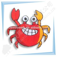 Crab Full Embroidery Animal Patch