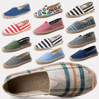 Factory bulk wholesale high quality women jute sole espadrilles shoes