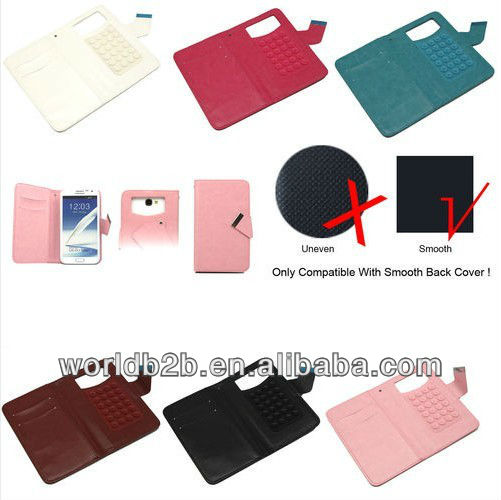 hotselling Universal Leather Sucker Wallet phone Case Cover