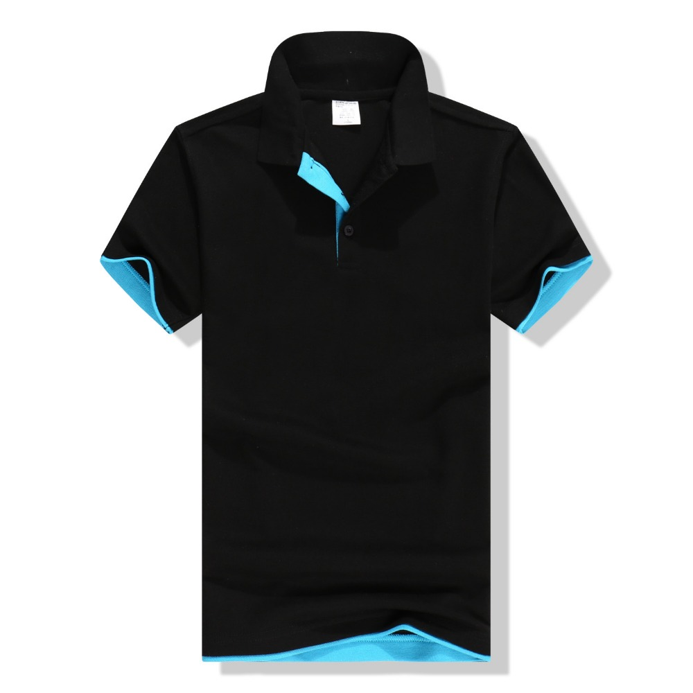 Bulk sale 100% polyester black color good design custom printing dri fit biker polo shirts