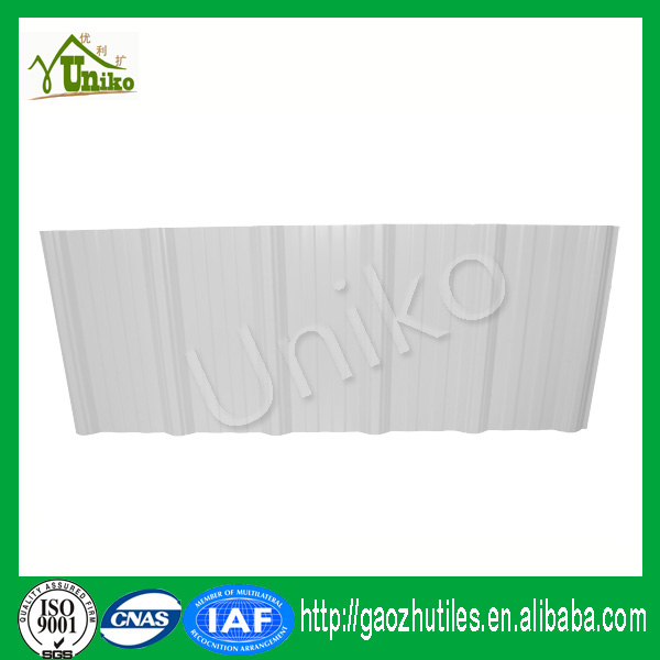 high quality laser printing micron white pvc roof sheet