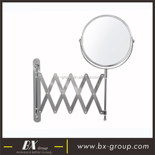 BX Group Multifunctional 5X Magnifying Wall Mounted Extendable Cosmetic Mirror