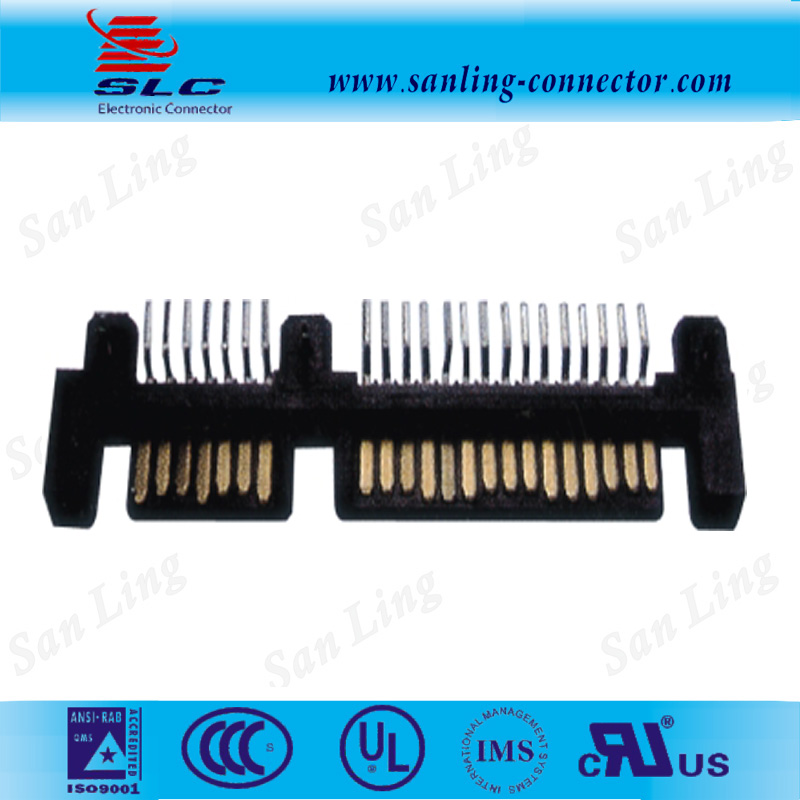 sata 7+15PIN 90 degree SMT SATA Male connector