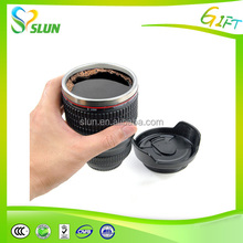 Metal material logo printed funny camera lens travel mug