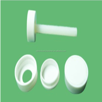 fit hole diameter M7 decorative white and black protect screw head plastic screw cap