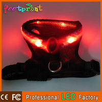 Light up safety harness dog coat