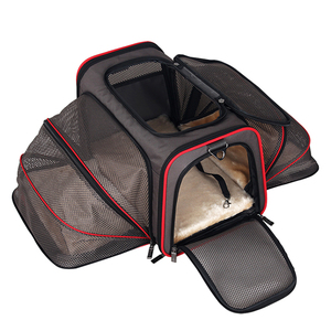 Luxury Portable Foldable Washable Wholesale Small Travel Airline Approved Pet Cat Dog Bag Outdoor Carrier
