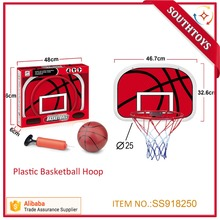 Indoor Adjustable Hanging Basketball Netball Hoop Basketball Backboard Set For Kids