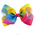4 Inch Ribbon Gradient Rainbow Hair Bow For Girls BH1532-X