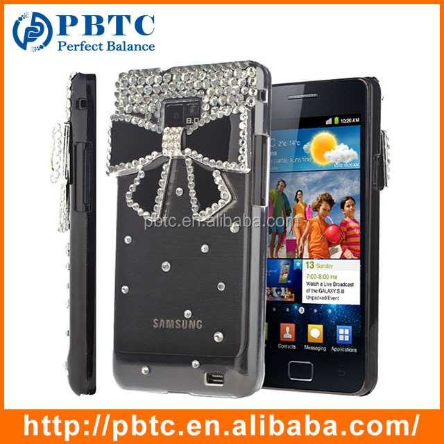 Set Screen Protector And Case For Samsung Galaxy S2 I9100 , Hard Plastic Factory Wholesale Popular 3D Mobile Phone Cover
