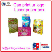 3d laser paper box with logo, horogram paper box factory