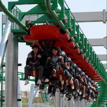 Top quality hot sale theme park equipment thrilling medium suspended roller coaster