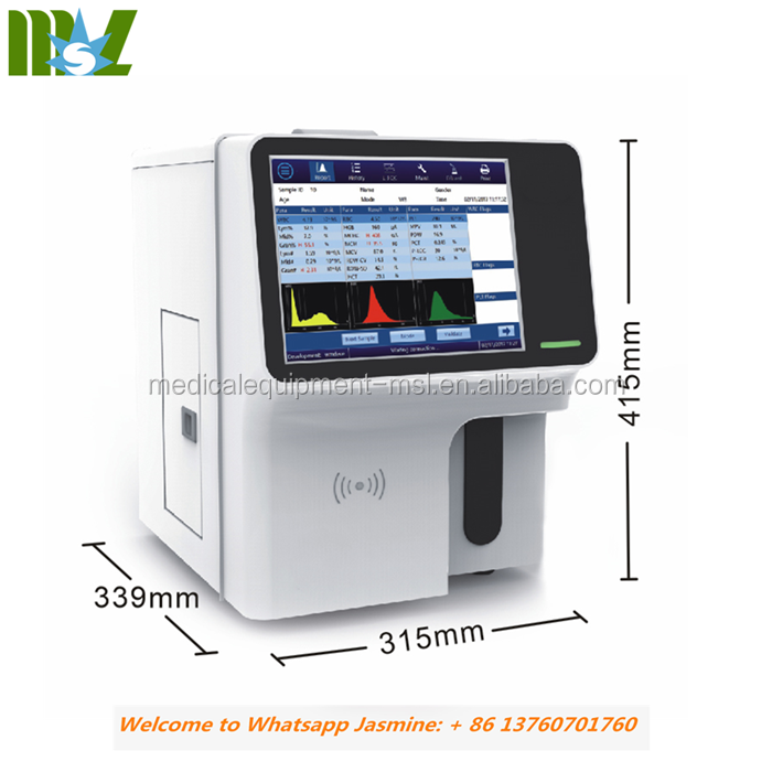 2019 Cheapest 3-diff Touch screen fully auto hematology CBC analyzer price MSLAB23plus