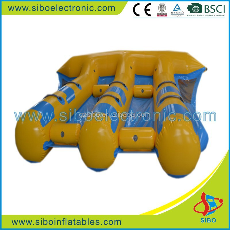 GMIF7390 PVC inflatable floating games bouncer boats from Guangzhou