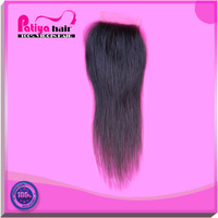 Buy from China virgin indian hair 10 12 14 16 18 20 inches free part lace closure natural black straight hair closure