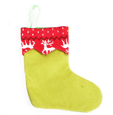 wholesale knit mini christmas stockings/sock wall decoration with different color