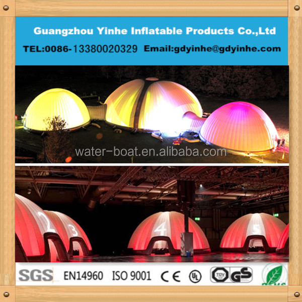 2015 outdoor giant white inflatable structures tent for event