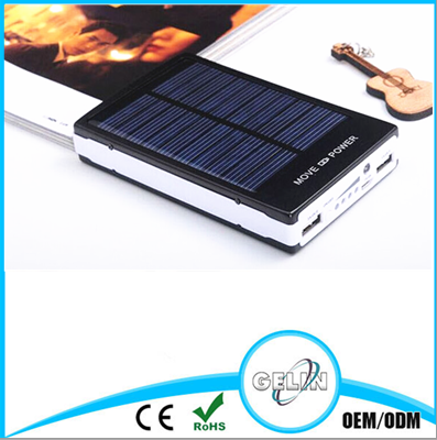 Unique Design Dual USB with LED light 30000mah Charger Solar Power Bank for Mobile Phone(OEM service)